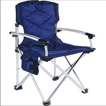 Comfortable folding outdoor garden chair/beach chair with side pocket