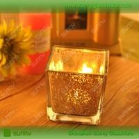 wholesale square glass candle holder / votive candle holder / tear drop glass candle holder