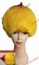 Wholesale 2015 Hot Sale Fashion Cheap Football Fan Wigs hair weave color chart
