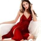 2014 China Sexy Lingerie Nightwear Red Lace Ladies Sleepwear Baby Doll Wholesale Women UnderwearSV009504