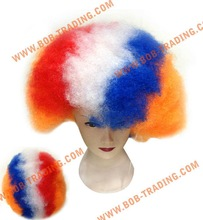 Soccer/football fans wigs/party wigs hair tie jewelry