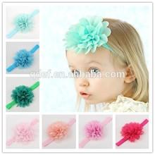 Cute kids elastic flower headband ,infant baby headband ,flower headband for kids
