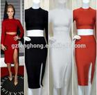 Plus size sexy pron dress sexy black red bandage dress wholesale