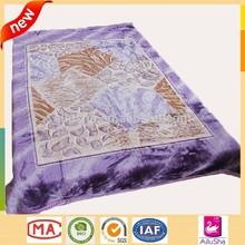 Cheap wholesale price purple patchwork designer korean style king size mink ceramic blanket