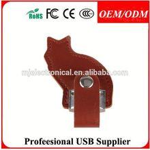 key chain usb flash drive leather , oem leather usb flash