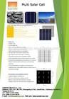 High efficiency Multi solar cell for solar panel for sale