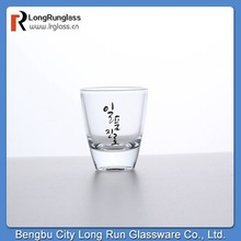 longrun glass tableware shot glass printing machine unique shaped with customer logo