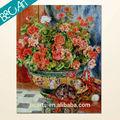 café da lona decoração pintura de flores