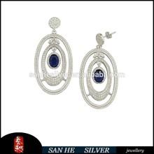 2015 china wholesale fashion jewelry silver earring