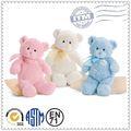 personalizada precioso peluche de color rosa y azul de peluche oso
