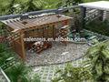 Buena calidad longmantenimiento cubiertas enrejado/madera enrejado de uva/aluminio enrejado de uva