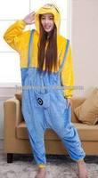 zhengtian walson hot adult 3 eyes unisex minions onesie pajamas costume best flannel material sleepwear