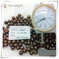 7-7.5mm ronda de café de calidad aa suelta perlas al por mayor