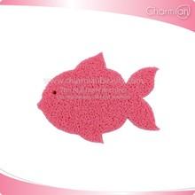 Fish bath sponge Kid toy bath sponge custom shape available