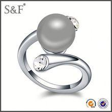 YIWU FACTORY!! Newest Style Crystal batu permata blue safir 0086 ring