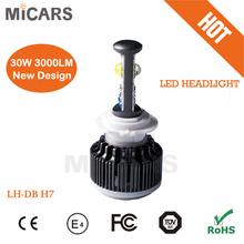 USA LED Light source chips led headlight h7 auto light bulb