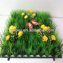 2015 hot sale wholesale cheap artificial grass carpet with flower