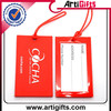Wholesale promotion rubber hang luggage tag