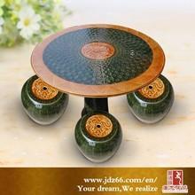 Delicate design handpainted excellent glazed porcelain dining room table for hot sale