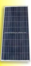 tempered glass lamination poly crystalline solar panel 18V/135W 140W 145W 150W