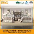 hot vente de haute qualité en métal meubles lit drap de lit double conçoit lit