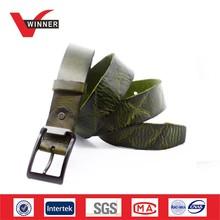 2016 green color durability full grain belt