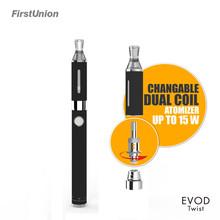 Variable voltage e ciggarette evod twist dual coils clearomizer electronic cigarette starter kits