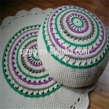 Hand Knitted Cotton Pouf, Crochet pouf ottoman wholesale