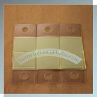 Round hole plastic adhesive hang tab