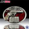 Nickel plated custom metal o ring belt buckle