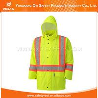 High Visibility Reflective Safety Pvc Transparent Raincoat
