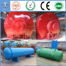 2015 automatic Hot selling,no pollution waste/used car tyre to fuel oil pyrolysis machine with environmental