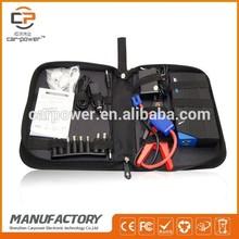 Multifunctional 12V emergency power bank Mini car jump starter/ diesel van
