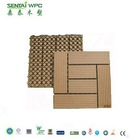 Hot Sell Sanded Wood Plastic Composite Decking Tiles For Outdoor Flooring