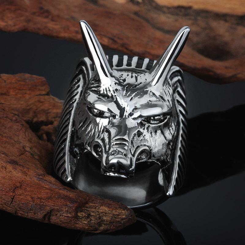 2015 de la alta calidad de plata la cabeza del lobo del muchacho ...