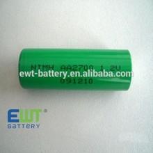 rechargeable nimh 1.2v 2700mah aa battery