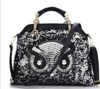 Europe new trend fashion diamond owl leather PU shoulder bag 2015 wholesale fashion lady bags