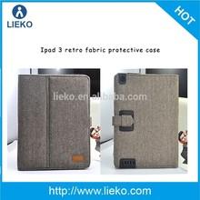 Retro fabric case for ipad 3