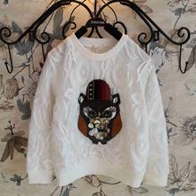 MS62382C latest design bling beaded children t shirt fashion t shirt