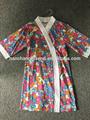 Verano 2015 100% jersey de algodón túnica con alloverimpresiones para las mujeres