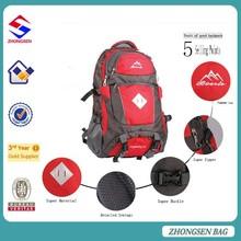 Factory supply hiking waterproof travel backpack laptop