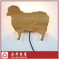 Bambú cutomized ovejas animal decorativo del reflector de la pared de la lámpara