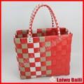 Handmade colorido tecido PE plastic bag shopping
