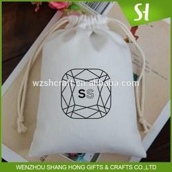 100% cotton canvas cotton cloth drawstring bags