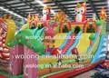 Populaires de haute qualité château aire de jeux intérieure, équipements toboggan gonflable pour les enfants