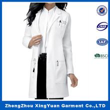 100% cotton white color Doctor uniforms Doctor coat Lab coat,hospital uniform