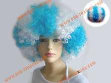 Soccer/football fans wigs/party wigs high grade made in korea human hair strip eye lash