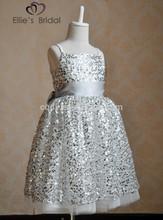 2015 Deluxe glisten sequin Girl frock,charming birthday dress for baby girl,Bling sequin princess dress