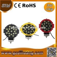 2 X 51w led work light Spot lamp, Driving 12v Car 4x4 accessories 51watts, super bright auto led work light