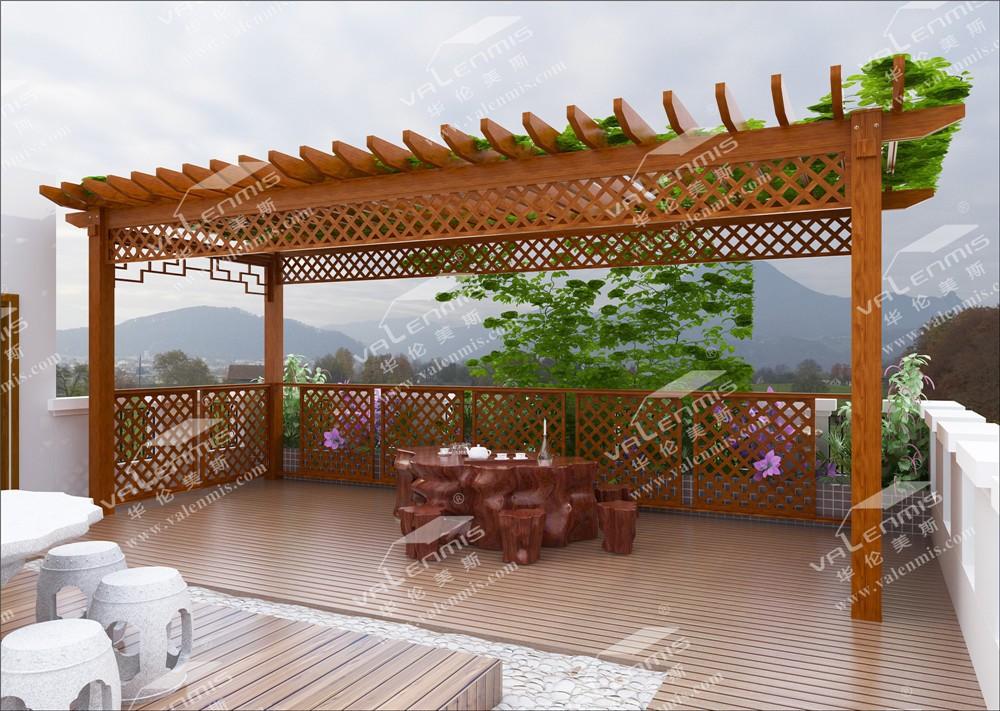 Gardern meubels outdoor wpc pergola pergola hout aluminium legering materiaal hekwerk trellis - Pergolas hout adossee ...